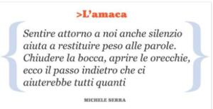 passo indietro Michele Serra
