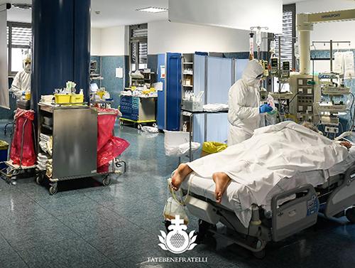 Reparto Covid dell'Ospedale Fatebenefratelli di Erba